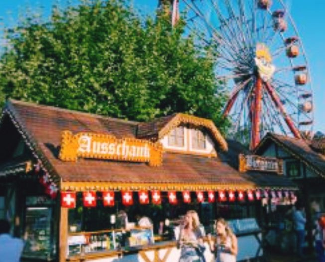 The Swiss Village and the big wheel